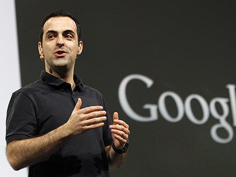 Barra, product management director of Android, speaks during the keynote address at the Google IO Developers Conference in the Moscone Center in San Francisco